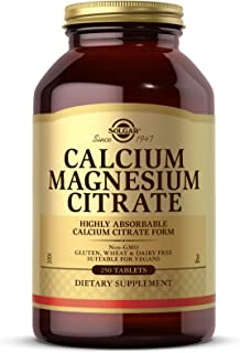 Solgar Calcium Magnesium Citrate, 250 Tablets - Supports Healthy Bones & Teeth - Musculoskeletal & Nervous System Support ...