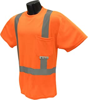 Radians ST11-2POS-XL High-Visibility Class 2 T-Shirt with Moisture Wicking Mesh, X-Large, Orange