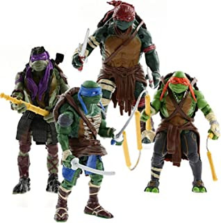Ninja Turtles 4PSC Set - Teenage Mutant Ninja Turtle TMNT Action Figures - Michelangelo Leonardo Raphael Donatello