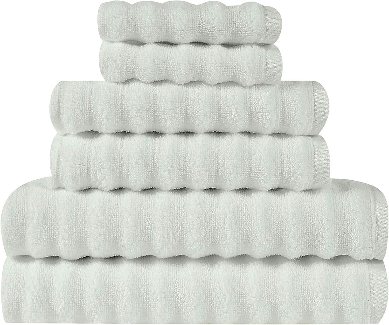 Truly Soft Zero Twist 激安格安割引情報満載 6 店舗 Set Silver Piece Towel Grey