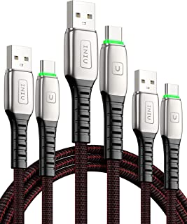 INIU USB C ケーブル (3本セット 0.5m+1m+2m)PD QC 4.0 対応 3A 急速充電 USBタイプCケーブル 編みファブリック 超高耐久 USB A to USB C 充電ケーブル Samsung Galaxy S10/...