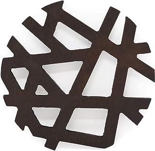 Salvamanteles asimétrico de madera, posavasos de tetera, para ollas calientes, sartenes, platos, cocina, decoración de mesa, accesorio