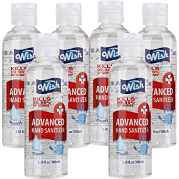 Wish Hand Sanitizer 3.38oz (Pack of 6) Pocket Size Vitamin E