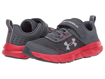 Under Armour Kids UA Assert 8 AC (Little Kid) (Pitch Gray/Versa Red/Mod Gray) Boys Shoes