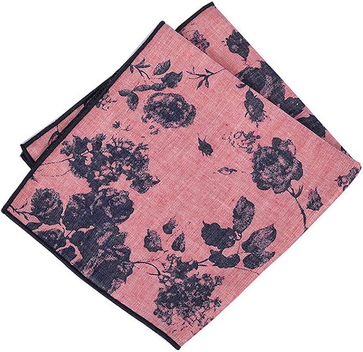 Packs Men's 100% Cotton Retro Printed Handkerchiefs for Casual Business