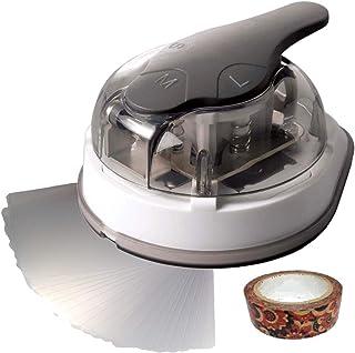 Sunstar Kadomaru Pro, Corner rounder Cutter, Laminating Pouches - 2-1/4 x 3-3/4-20 Pack & Masking Tape Sobjap Office Set (1)