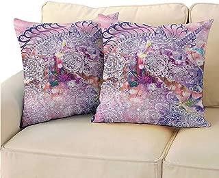 RuppertTextile Unicorn Customized Pillowcase Fantasy Animal Birds Without core W17 x L17