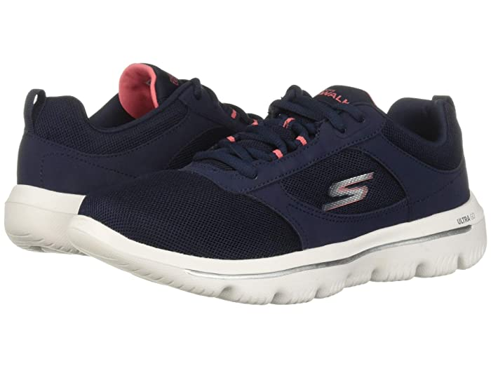 SKECHERS Performance  Go Walk Evolution Ultra - 15734 (Navy/Coral) Womens Shoes