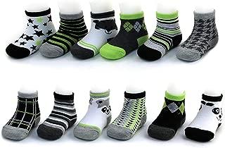 Baby Boys Assorted Color Designs 12 Pair Socks Set,...