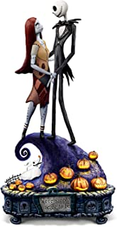 The Bradford Exchange The Nightmare Before Christmas Simply Meant to Be Jack and Sally Musical Figurine