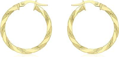 Carissima Gold 375/1000 - Orecchini a cerchio da donna, 9 carati