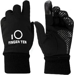 Finger Ten Junior Boys Girls Running School Warm Touchscreen 3M Winter Gloves Value Pack 1 Pair Set