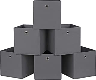 SONGMICS RFB02G-3 Boîte de Rangement Gris 30 x 30 x 30 cm 6