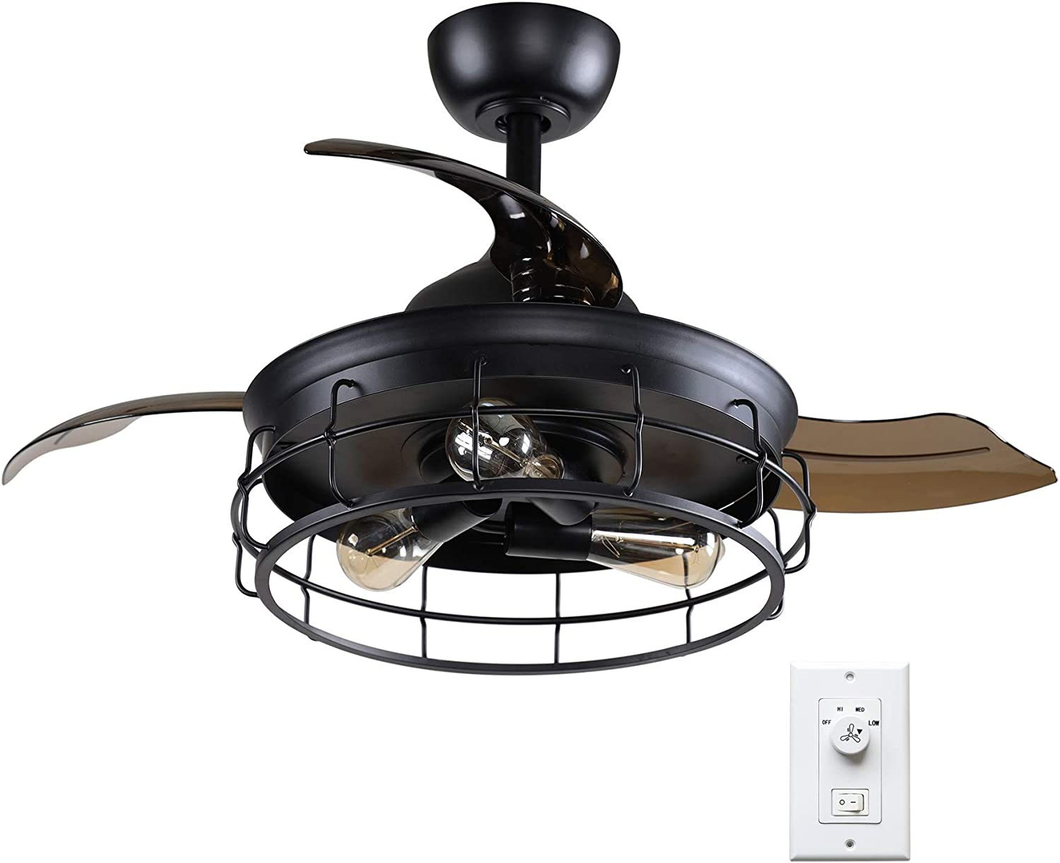 Miami Mall Parrot service Uncle 36 Inch Ceiling Fan Cei Lights with Farmhouse Style
