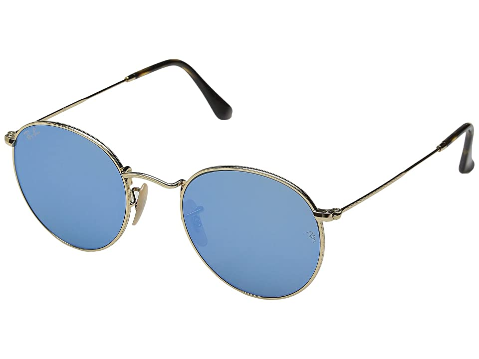 Ray-Ban RB3447 50mm (Gold/Light Blue Flash) Fashion Sunglasses