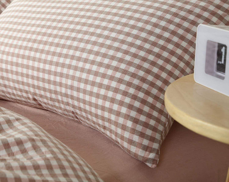 100% Coton Linge de lit Super Doux literie Couvre-lit Cool Summer Pink Plaid Couette PinkPlaid