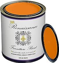 Renaissance Chalk Finish Paint - Pumpkin - Quart (32oz) - Chalk Furniture & Cabinet Paint - Non Toxic, Eco-Friendly
