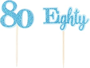 All About Details Blue Eighty Cupcake Toppers, Set of 12