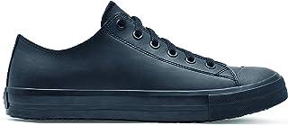 Shoes for Crews 38649-37/4 DELRAY Unisex Casual Leather Shoe, Slip Resistant, Size 4 UK, Black