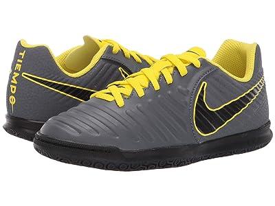 Nike Kids LegendX 7 Club IC Soccer (Toddler/Little Kid/Big Kid) (Dark Grey/Black/Opti Yellow) Kids Shoes