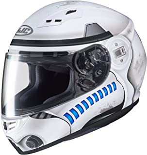 HJC Star Wars Unisex-Adult CS-R3 Storm Trooper Motorcycle Full Face Helmet (White, Large)