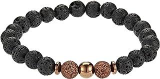 Alwan-Accessories Lava and Agide Stone Elastic Bracelet for Men - EE3719