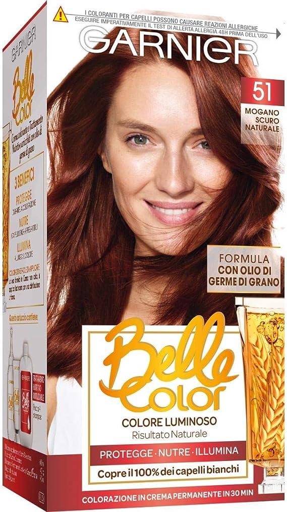 BELLE COLOR 51 mogano scuro naturale - Tintes para el cabello ...