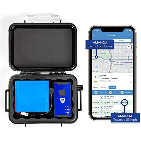 Brickhouse Security 140-Day 4G LTE Magnetic GPS Tracker Cellular Real-GPS Tracking Device with Magnetic Case & Extended Battery for Tracking Vehicles Truck Kids Teens Elderly. Subscription Required!