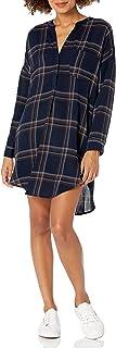 ASTR Women's Gertrude Plaid Long-Sleeve Dress