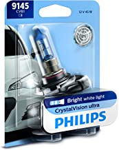 Philips 9145 CrystalVision ultra Upgrade Replacement Bright White Fog Bulb