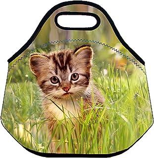 [Niyatree]Niyatree Neoprene Lunch Bag Insulated Lunch Tote Handbag with Zipper Grass [並行輸入品]