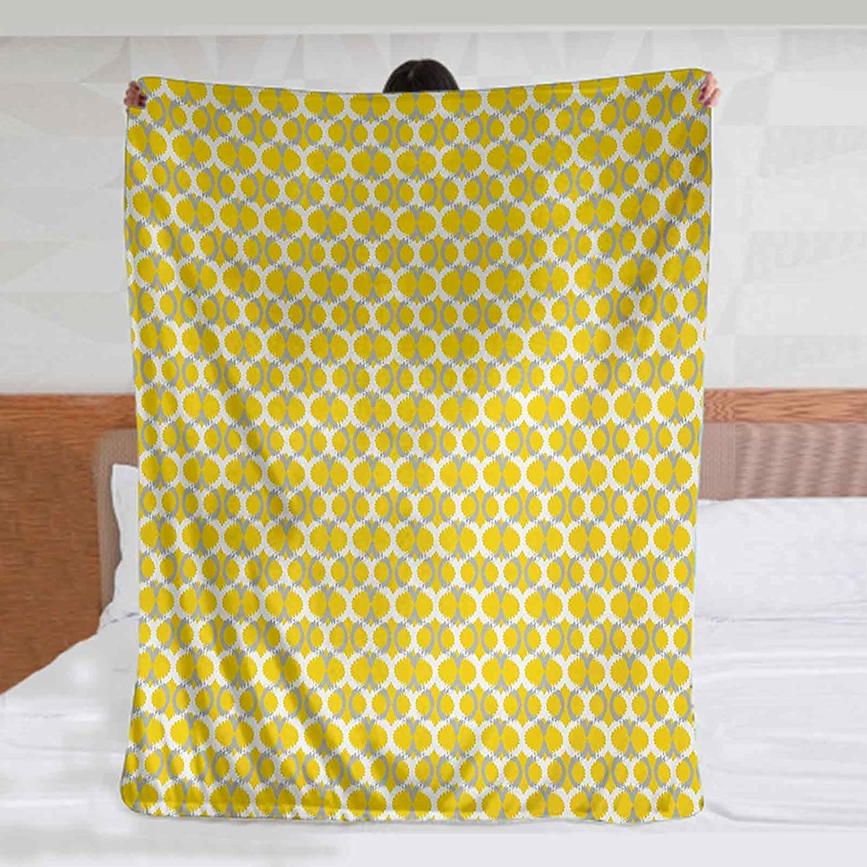 Ikat Fleece Blankets 90