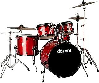 ddrum J2P 522 RSP Piece Drum Set, Red Sparkle