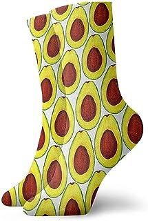 Kevin-Shop, Calcetines Tobilleros con Dibujo a Mano de Aguacate Calcetines Casuales y acogedores para Hombres, Mujeres y niños