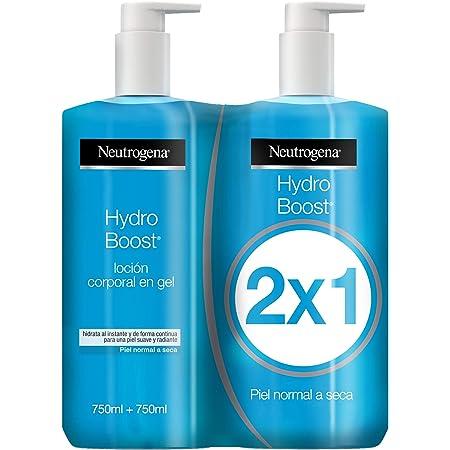 Neutrogena Hydro Boost Loción Corporal Hidratante en Gel, Piel Normal a Seca, Pack 2 x 750ml