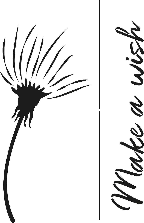 Viva Decor®️ Blob Paint Universal-Schablone (Pusteblume, DIN A22)  Zeichenschablonen/Dots Schablone - Painting Tools für Blob Painting -  Schablonen Made