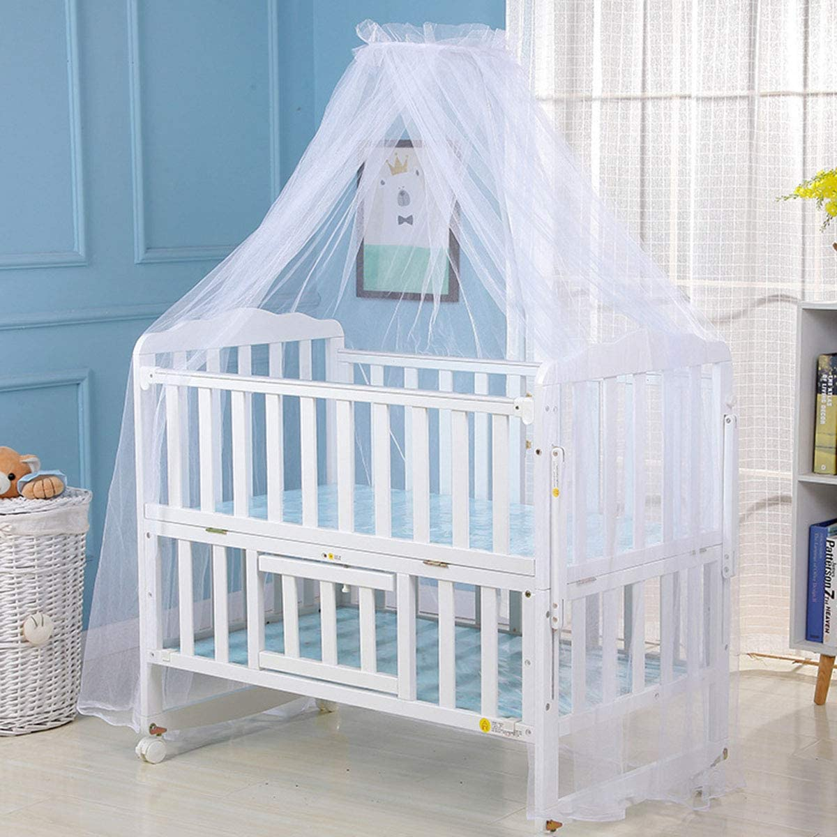 Eurobuy Baby Crib Safety Net Baby Bed Canopy Netting Cover Crib Net Baby Child Mosquito Net Newborn Foldable Mosquito Mesh Net Protect Your Baby from Bites