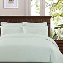 Echelon Home Washed Belgian Linen Sheet Set, California King, Seafoam