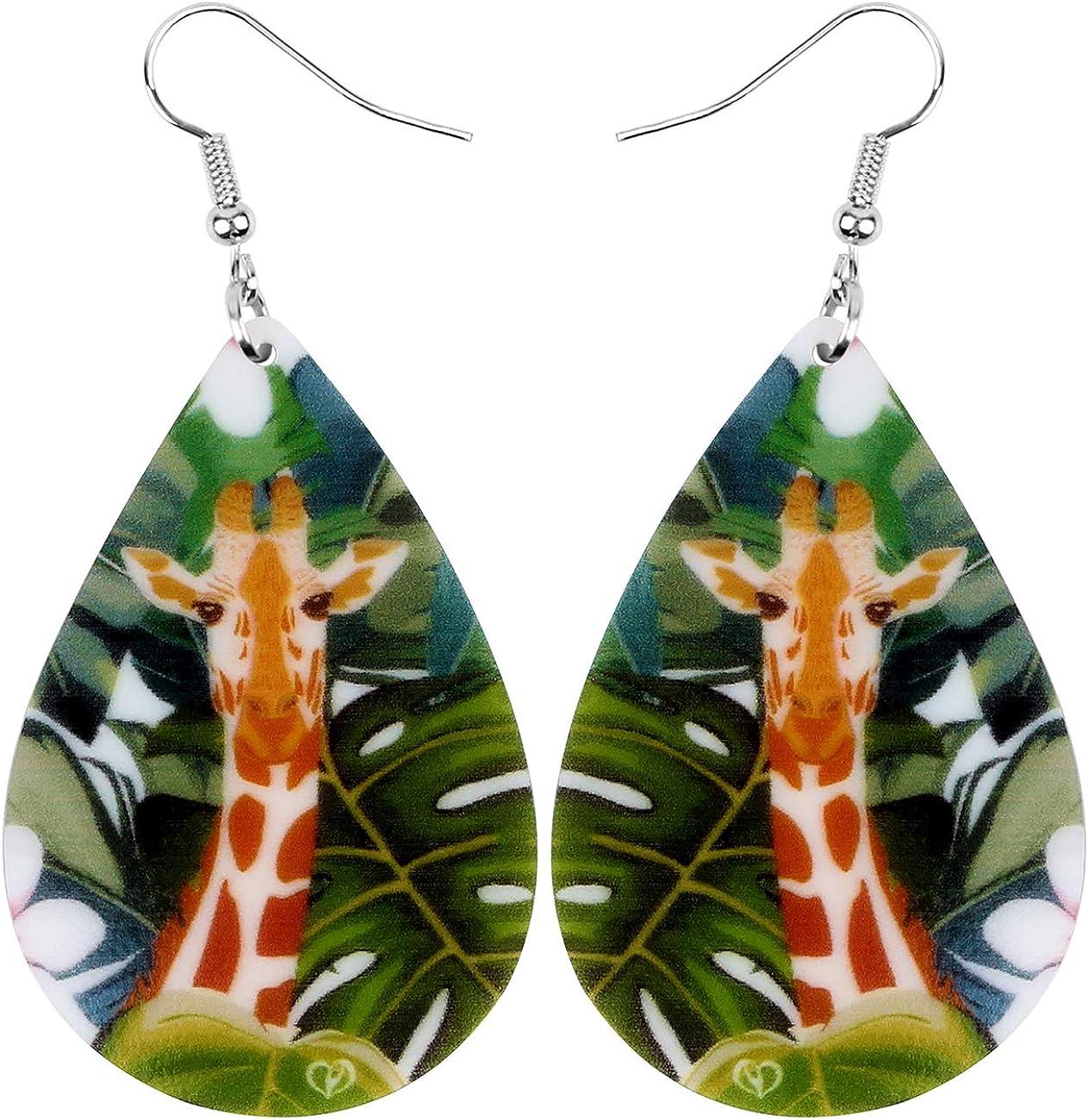 23. Lightweight Africa Giraffe Earrings