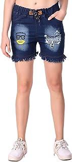 Fasnoya Womens' Funky Slogan Denim Shorts