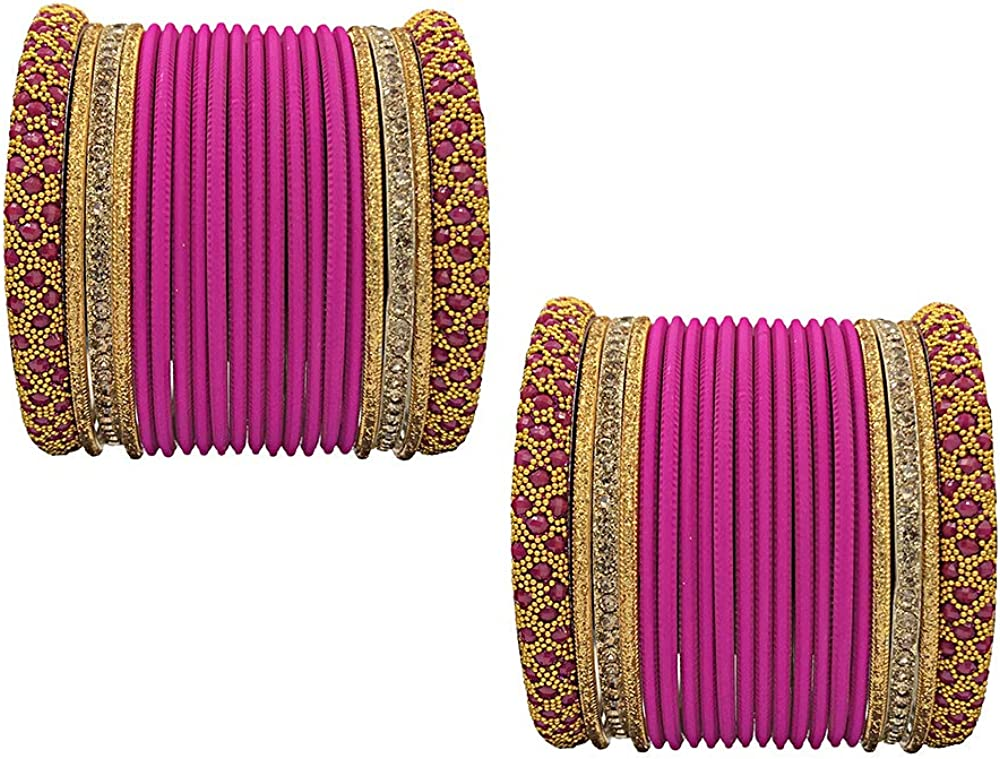 GLINT STORE Glamorous Bollywood Fashion Indian Bangles Amazing Multi Color Party wear Bangles Jewelry
