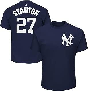 Majestic Athletic Giancarlo Stanton New York Yankees #27 MLB Men's Player Name & Number T-Shirt