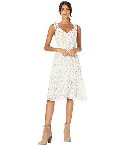 Sam Edelman Printed A-Line Midi Dress (Ivory Multi) Women