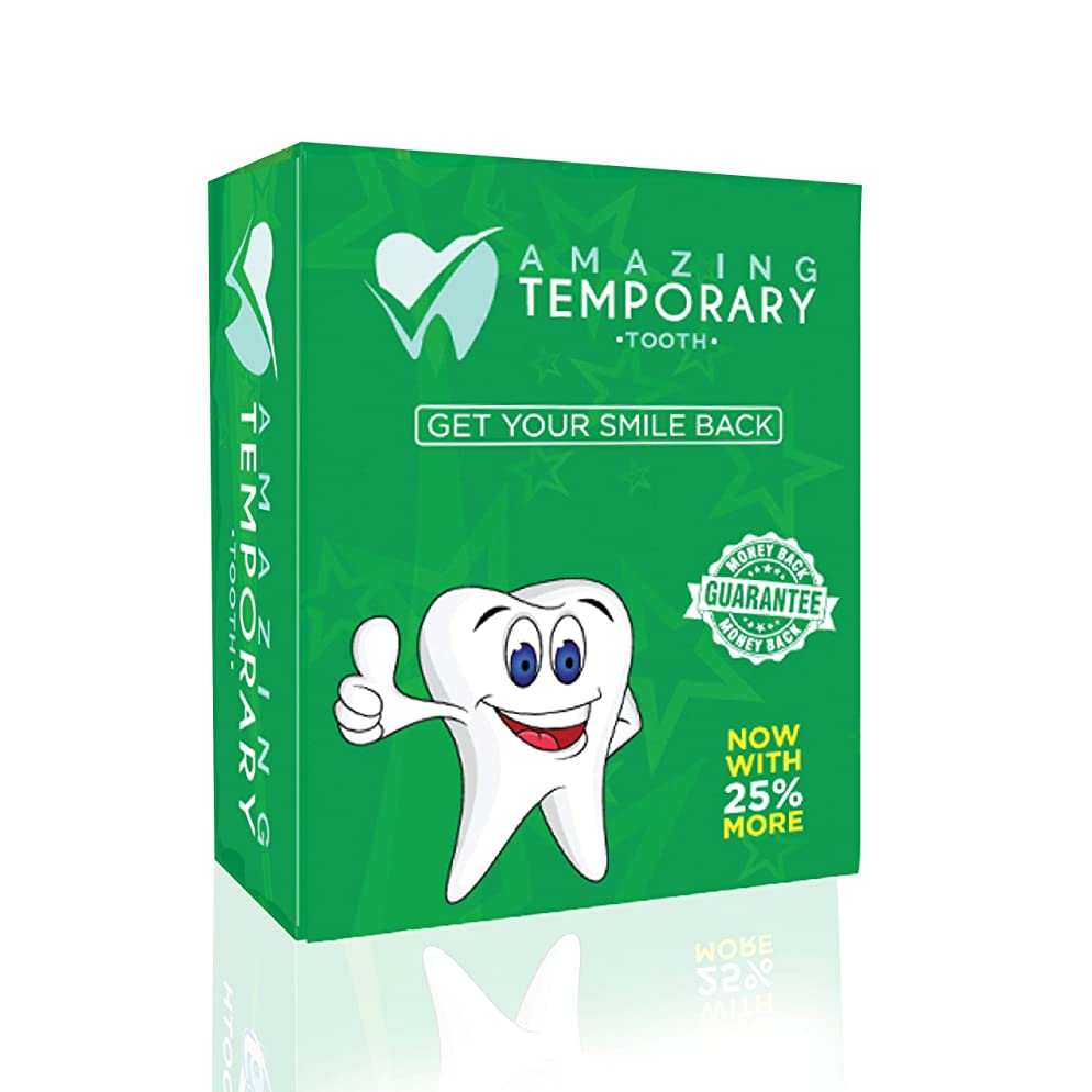 Amazing Temporary Missing Tooth Kit Complete Temp Dental Replacement Tooth Repair Kit Temp Makeover Now with 25% More