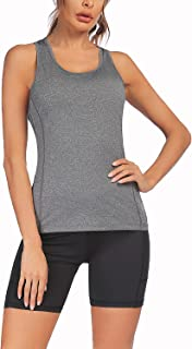 COOrun Womens Yoga Workout Outfits 2 Pieces Athletic Clothing Sets Tank Tops and Yoga Shorts