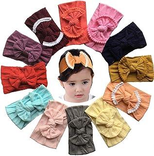b52d64a5efb0 Qandsweet Baby Girl s Beautiful Headbands Elastic Hairband for Photograph