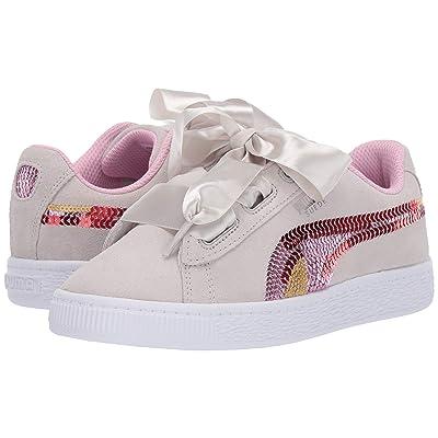 Puma Kids Suede Heart Trailblazer Sequins (Little Kid) (Gray Violet/Pale Pink) Girl