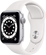 New AppleWatch Series 6 (GPS, 40mm) - Silver Aluminum Case with White Sport Band