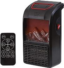 Seraphicar - Calefactor portátil con mando a distancia, ventilador eléctrico de pared de aire de pared, temperatura constante inteligente, 3 segundos de calentamiento rápido