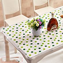 FDFGH Pvc Tablecloths,Wipe American style Oil-proof Transparent Waterproof European style Kitchen Disposable Home Soft Anti-scalding Plastic [waterproof] Oil-proof Rectangle-D 90x140cm(35x55inch)
